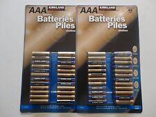 (2) KIRKLAND Signature Alkaline AAA Batteries 48 pack EX. 2024 New NIP X 2