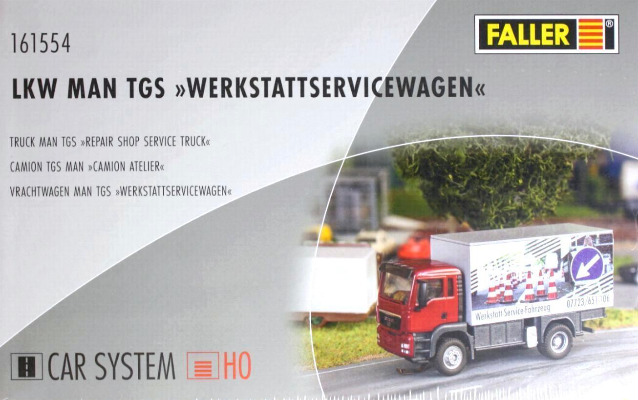 Faller 161554 H0 - CAR- SYSTEM LKW MAN TGS   Werkstattservicewagen   NEU & OvP  | Online-verkauf