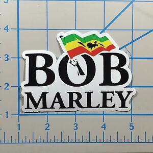 Bob-Marley-5-034-White-Vinyl-Decal-Sticker-Bogo