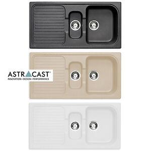 Astracast ROK Granite Composite Kitchen Sink & Waste Kit 1.5 Bowl ...
