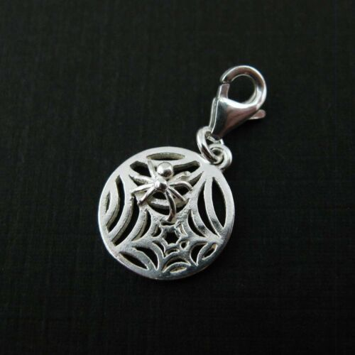 1 pc Add on Charm Sterling Silver Bracelet Charms-Spider Web with clasp