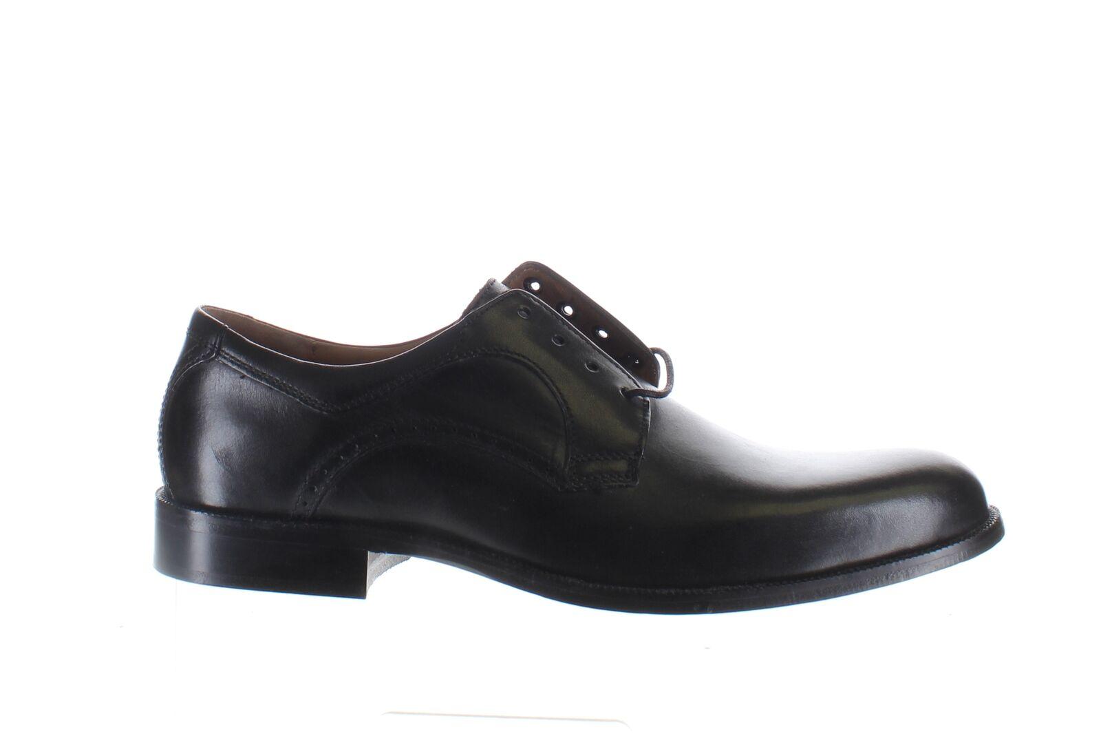 Johnston & Murphy Mens Harmon Black Oxford Dress Shoe Size 9.5 (2146371)