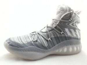 wholesale dealer 90876 d7a2d Image is loading ADIDAS-Crazy-Explosive-Basketball-Shoes-White-Gray-B42424-