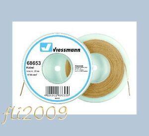 Viessmann-68653-cavo-filo-collegamenti-elettrici-0-14-mmq-25-mt-marrone