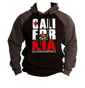 7a560085a Image is loading New-California-Republic-Raglan-Hoodie-sweatshirt-cali-ca-
