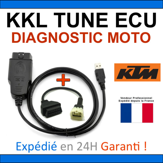 Diagnostic interface kkl special motorcycles ktm + adapter obd tune ecu tuneecu +