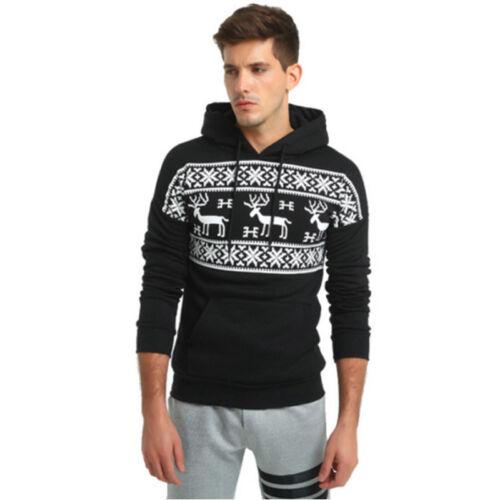 Men Long Sleeve Sweater Hooded Pullover Coat Jacket Sport Hoodie Warming Outdoor