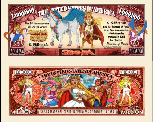 Princess of Power-Mattel Cartoon Character Million Dollar Novelty Money She-Ra