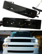 FOR 2003-07 SCION XB BLK OUT SMOKED LED DAY TIME RUNNING BUMPER FOG LIGHT LAMPS