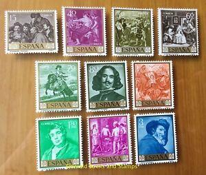 EBS-Spain-Espana-1959-Stamp-Day-Paintings-II-Diego-Velazquez-1135-1144-MNH