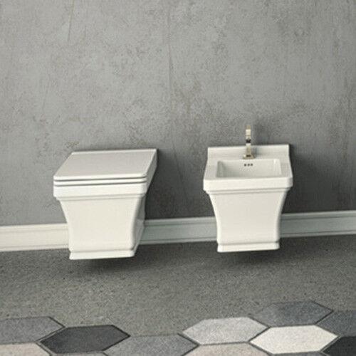 Vaso Wc Bagno Sospeso Moderno Design Neò in ceramica bianco