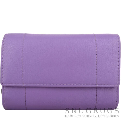 Ladies Women Large Leather Zip Round TriFold Money Coin Credit Card Holder Purse