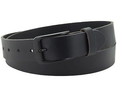Büffel Ledergürtel 3,5 Cm Herren Damen Belt Echt Voll Leder Gürtel Schwarz Nr.20 Letzter Stil