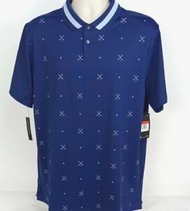NEW-Nike-75-Standard-Dri-Fit-S-S-Golf-Clubs-Polo-Shirt-Navy-Blue-Men-039-s-Large