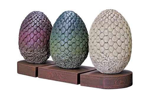 GAME OF THRONES DRAGON EGGS BOOK END FIGURE DAENERYS TARGARYEN BOOKENDS TV  1
