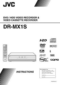 jvc dr mx1s operating user owner s instruction manual ebay rh ebay com