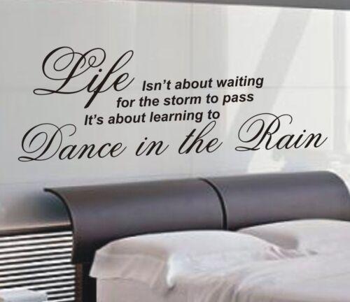4 Tailles-WA22 Danse sous la pluie Mur Art Autocollant Citation