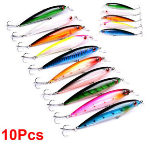 10Pcs-Minnow-Fishing-Lures-Bass-Crankbaits-Hooks-Tackle-Crank-Baits-Sinking-Kits