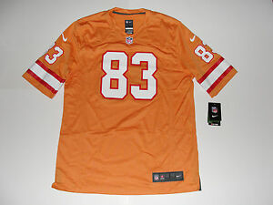 cheap for discount 99155 9ce89 Details about Nike NFL Tampa Bay Bucs Orange Alternate Game Jersey sz L #83  Jackson