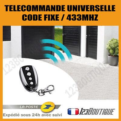 T/él/écommande copieuse de remplacement pour portail//porte de garage code fixe Universel Hormann 433/MHz HSM4/RF