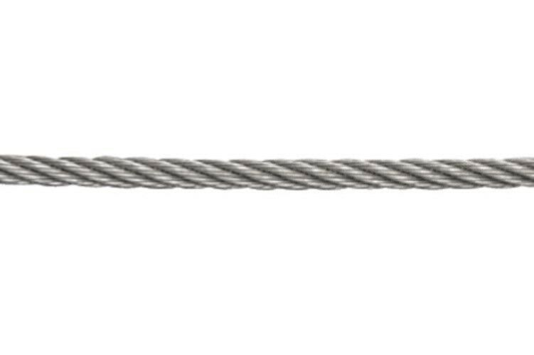 Wire Rope Marine Grade Stainless Steel (7x7) for Rigging, Stays, Balustrades