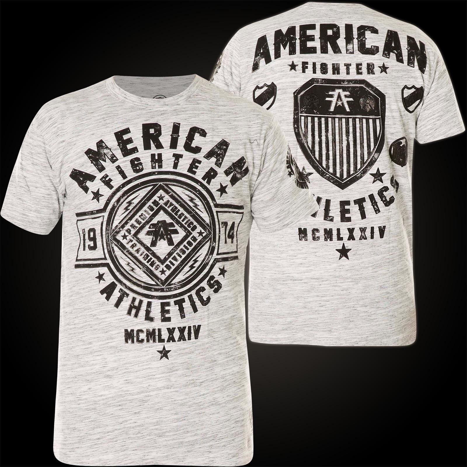67410dc771b FIGHTER Affliction T-Shirt Chestnut Hill Hellgrey T-Shirts AMERICAN ...