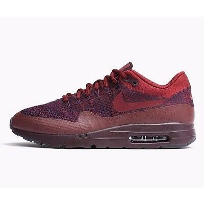 NIKE AIR MAX 1 ULTRA FLYKNIT TRAINERS - PURPLE/RED - 856958 566 - UK 6, 6.5, 7