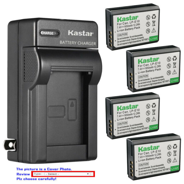 2x BATERIA 1100mAh para Canon EOS 1100 1300D LP-E10 LPE10 LP-E 10