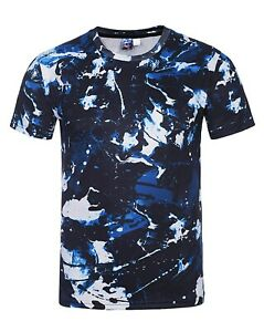 Blue-Camo-T-Shirt-Camouflage-Tie-Dye-Acid-Wash-All-Over-Print-Tee