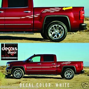 Fits-Chevy-SILVERADO-and-SIERRA-1500-2500HD-3500HD-Side-Stripes-Decals-Graphics