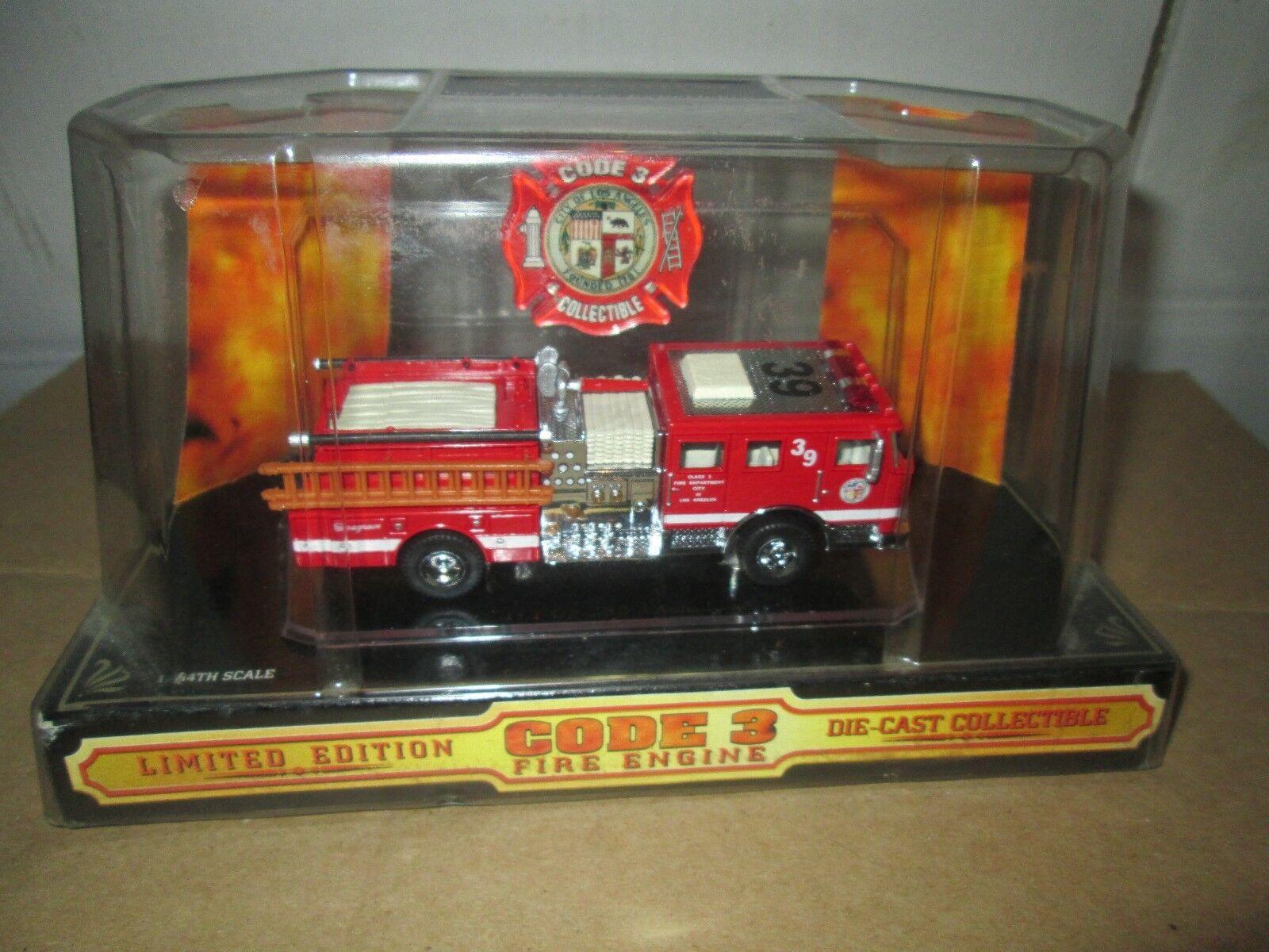 vendita online Città di Los Angeles Code 3 Seagrave Pumper 1 1 1 64 Fire Dept Unità 39  02450  nelle promozioni dello stadio