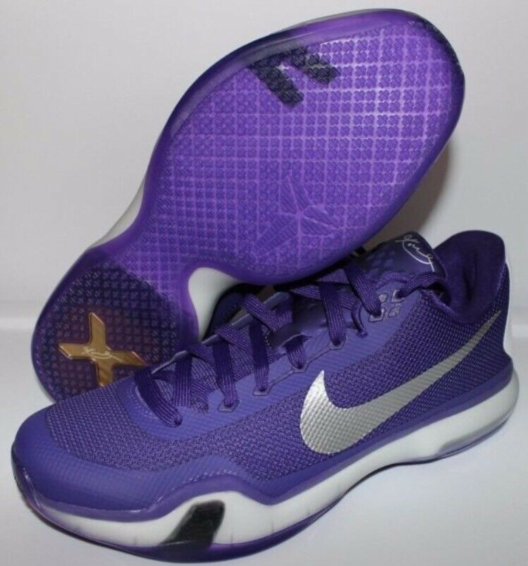 Nike Kobe 10 X TB Moonwalker Sz 12 Grape Purple LA Lakers White Elite 813030-501