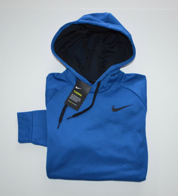 0f5fb54ae7 Men's Nike Dri-fit Hoodie Pullover Sweatshirt Blue M Medium