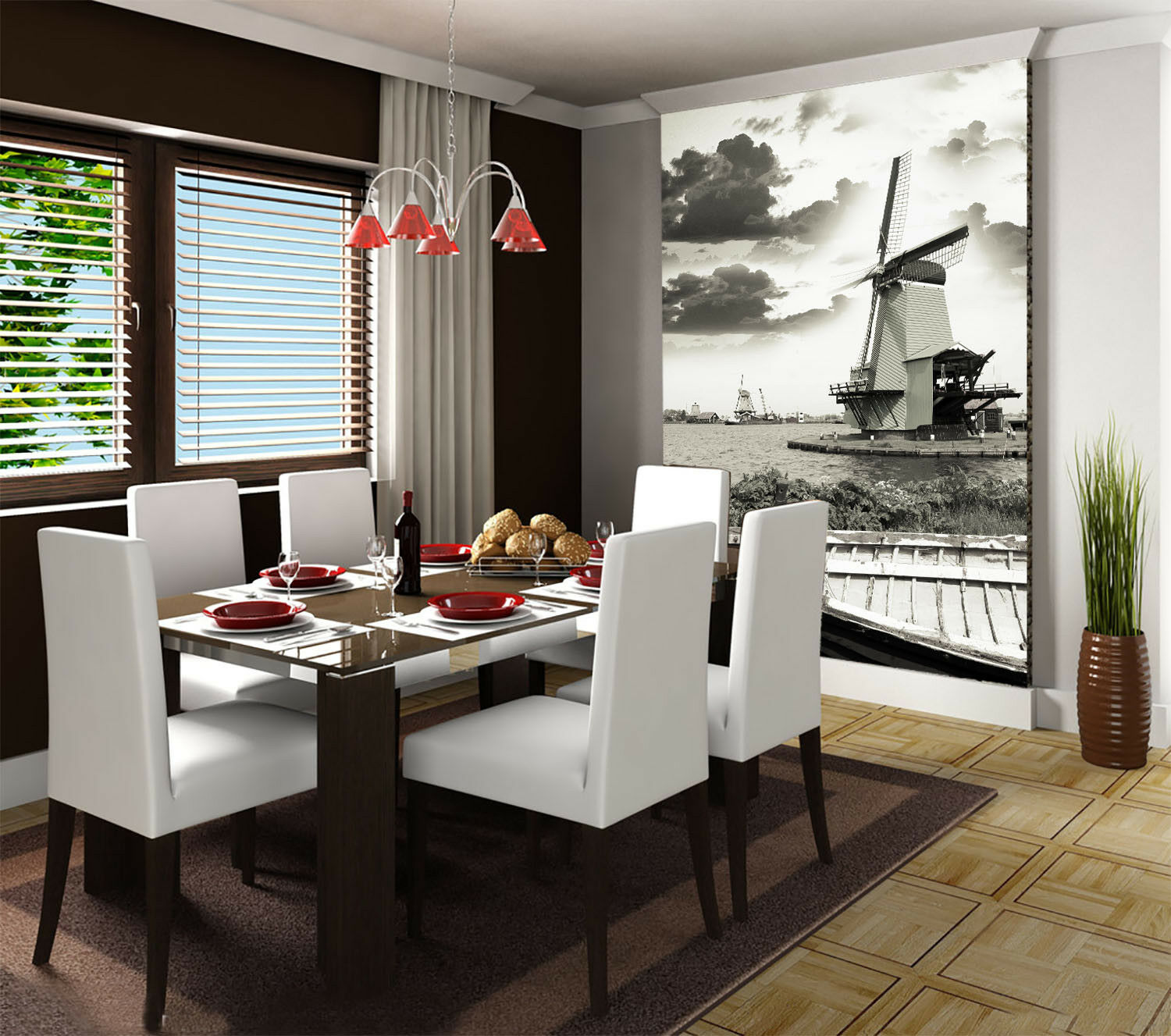 3D  Windmill 498 Wallpaper Murals Wall Print Wallpaper Mural AJ WALL AU Kyra