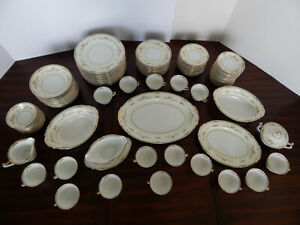 CHARLINE 102-piece China Dinnerware Set by Imperial, Made in Japan, Late 1800s