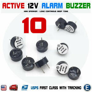 10pcs-Active-Buzzer-Magnetic-12V-Long-Continous-Beep-Tone-12-9-5mm-For-Arduino