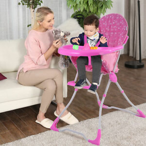 Pink Baby Infant Toddler High Chair Feeding Booster Seat Table