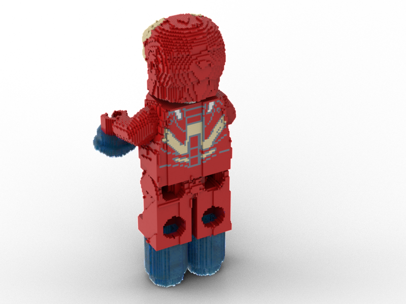 LEGO Iron Man minifig statue building instruction instruction instruction 8c0140