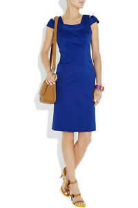 NWT-Milly-039-Keithly-039-Cobalt-Blue-Stretch-Cotton-Dress-US-2-AU-8