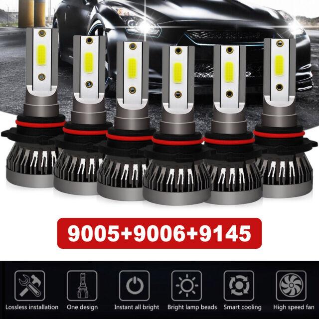 Auto Parts and Vehicles 9005 9006 9145 LED Headlight Fog Light For GMC Sierra 1500 2500 3500 2003-2006