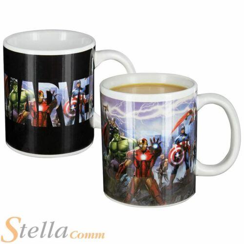 Marvel Avengers Heat Sensitive Colour Change Mug Cup Iron Man Thor Hulk