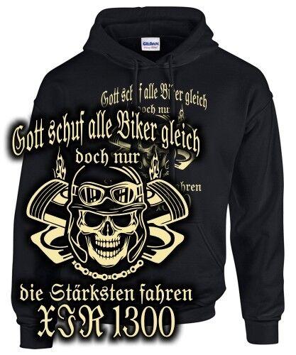 Biker Sweatshirt XJR 1300 Tuning Zubehör Spruch NUR DIE STÄRKSTEN FAHREN fun