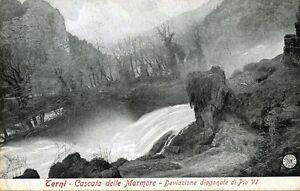 *TERNI : Cascata delle Marmore - Deviazione diagonale di Pio VI * Viaggiata 1918