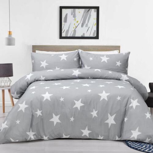 100/% Microfiber Duvet Cover Set Printed Soft Light Quilt Cover Set Star 4 Sizes