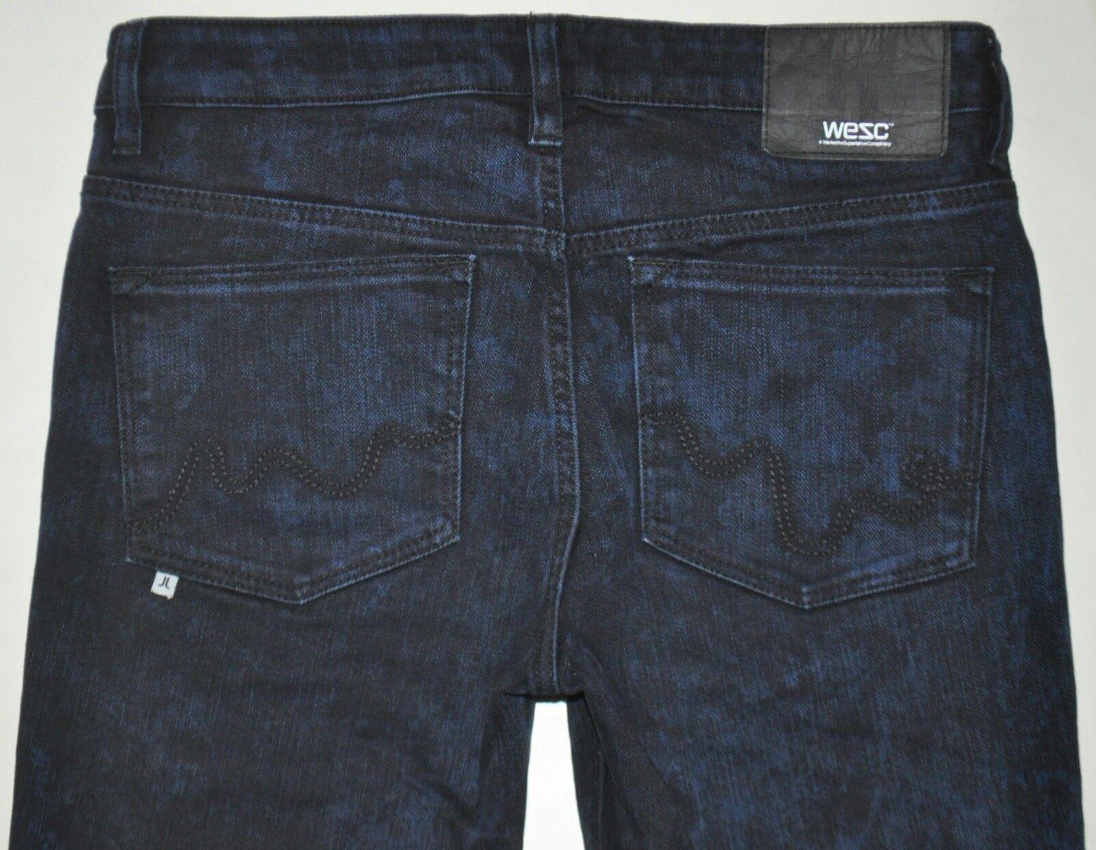 WESC Women's Lizzy 46E Dark bluee Riot Skinny Leg Jeans Sz 28 X 29 PHENOMENAL EUC