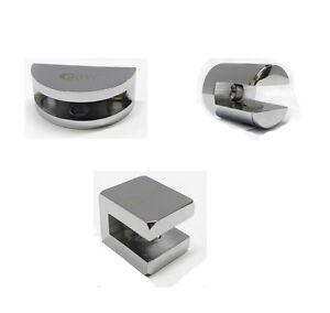 Super Details About Bathroom Brass Chrome Round 6 8Mm Glass Shelf Support Bracket Clamp Clip Holder Download Free Architecture Designs Scobabritishbridgeorg