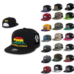 Whang California Cali Republic Bear Flat Bill Retro 3D Snapback Caps ... 2fc4376efc13