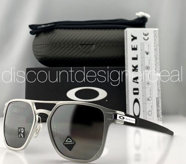 leggero Lavoro duro e faticoso Monopolio  Oakley Sunglasses Latch Alpha Matte Silver W/ Prizm Black Polarized Lens  for sale online | eBay