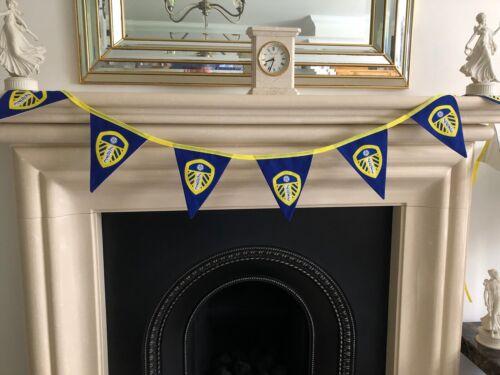 Leeds Leeds Leeds Tissu Bunting 8 drapeaux 15 cm x 17 cm Maison entièrement doublé