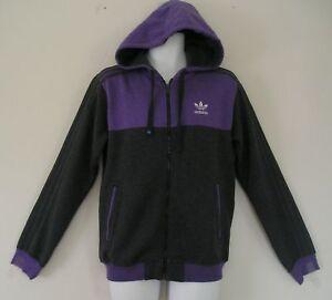 61c14c8aab8c RARE~Adidas SPORTS ZIP HOODY superstar Sweat Shirt FLEECE HOODED ...